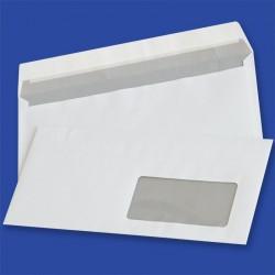Koperty NC samoklejące z paskiem DL HK białe 80g okno prawe 45x90mm 1000szt.