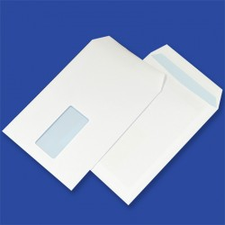 Koperty NC samoklejące C5 SK białe 90g okno prawy/lewy środek 45x90mm 500szt.