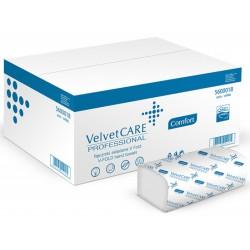 Ręczniki składane ZZ eco-white VELVET Profesional, 2-warstwowe, 3000 listków, 20szt., białe