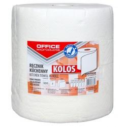 Ręczniki w roli celulozowe OFFICE PRODUCTS Kolos, 2-warstwowe, 500 listków, 100m, białe