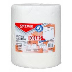 Ręczniki w roli celulozowe OFFICE PRODUCTS Kolos Junior, 2-warstwowe, 300 listków, 60m, białe