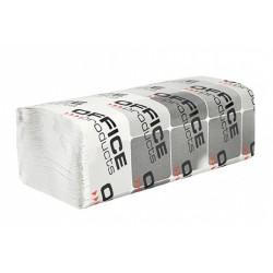 Ręczniki składane ZZ makulaturowe ekonomiczne OFFICE PRODUCTS, 1-warstwowe, 4000 listków, 20szt., białe