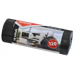 Worki na śmieci OFFICE PRODUCTS, super mocne (LDPE), 120l, 10szt., czarne