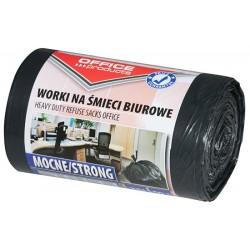 Worki na śmieci OFFICE PRODUCTS, mocne (LDPE), 35l, 50szt., czarne