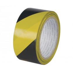 Taśma ostrzegawcza 48mm 20mczarno-żółta