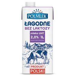 Mleko POLMLEK UHT 2% 1L. ŁAGODNE bez lattkzy