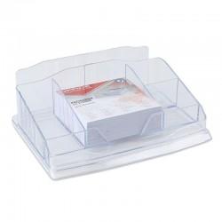 Przybornik na biurko przezroczysty OFFICE PRODUCTS z karteczkami