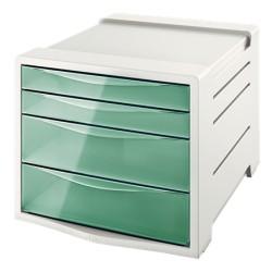 Pojemnik z szufladami ESSELTE Colour'Ice zielony