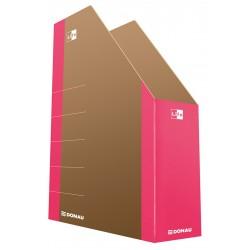 Pojemnik na czasopisma DONAU Life karton różowy 80mm