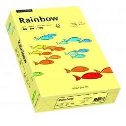 Papier xero kolorowy Rainbow jasno żółty 12