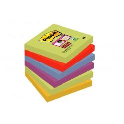 Bloczki samoprzylepne Post-it® Super Sticky, paleta Marrakesz, 76x76mm, 6x90 kartek