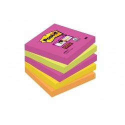 Bloczki samoprzylepne 3M POST-IT® 654S-N 76x76 Mix 180k