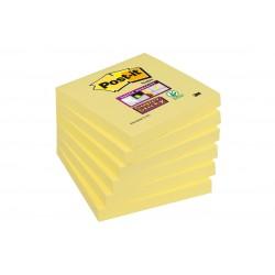 Bloczek samoprzylepny Post-it® Super Sticky, żółty, 90 kartek, 76x76mm