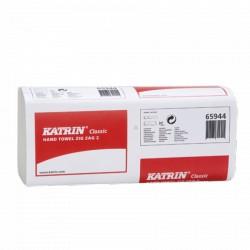 Ręcznik ZZ KATRIN biały CLASSIC 25 % makulatury, 20x150 listków, 232 x 230 mm 65944