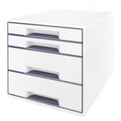 Pojemnik z 4 szufladami Leitz WOW, perłowy biały / szary