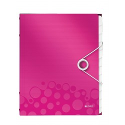 Teczka segregująca Leitz WOW, 12 przekładek 200k A4 Metaliczna różowa