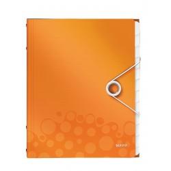 Teczka segregująca Leitz WOW, 12 przekładek 200k A4 Metaliczna pomarańczowa